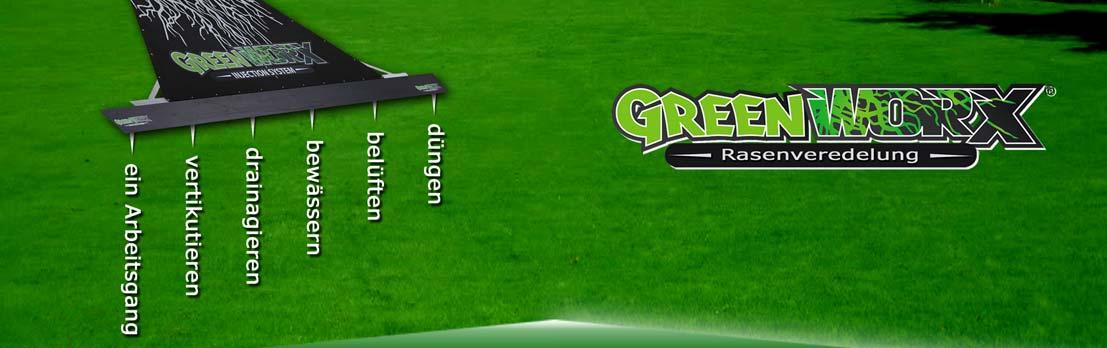 Greenworx - Rasenbearbeitung - viele Arbeitsschritte in einem Gerät!